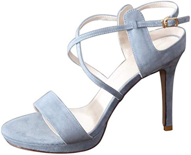 YMFIE Elegante temperamento croce cinghie stiletto stiletto stiletto indietro aria open toe sandali tacco alto moda sexy scarpe... | Uscita  | Gentiluomo/Signora Scarpa  1fb003