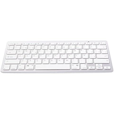 Mini teclado Bluetooth para tablet/smartphone color blanco