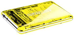 "Platinum MyDrive Disque dur externe portable 2,5"" 750 Go USB 2.0 Transparent Jaune"