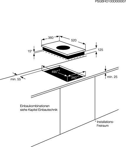 AEG hc451501eb eingebaut Induktion Schwarz - 2