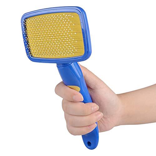 HBBLD Hund Slicker Grooming Brush Nadelkamm Shedding Remover Beauty Air Cushion Professionelles Werkzeug Soft No Skin Damage Blue Multi-Colored -