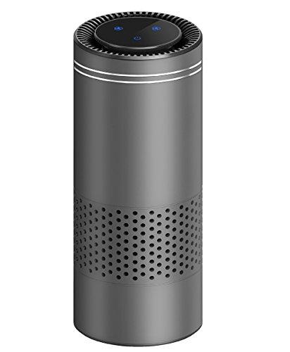 stensteuerung HEPA Luftreiniger für Allergiker, entfernen Rauchen Staub Pollen und Bad Gerüche, Luft sauberer Lufterfrischer perfekt für Auto Büro Desktop und Schlafzimmer Luftreiniger (Grau)
