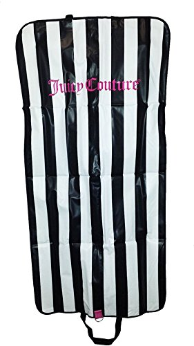 Juicy Couture 124,5cm Foldover Garment Beutel mit Griffen Travel mit Reißverschluss Kleid, Anzug, Gewand Carrier Tote, Vinyl, weiß, Large