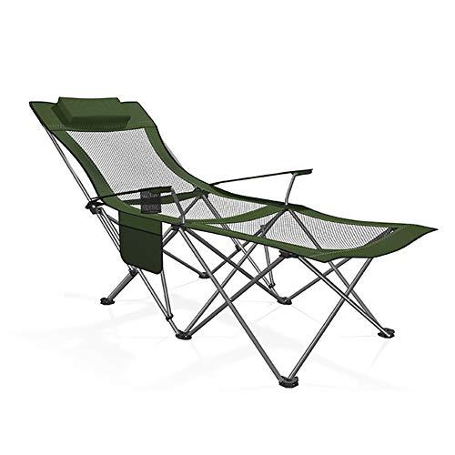 Forest Green Outdoor-stuhl (DAIZI Klappbare Chaiselongue im Freien, Patio-Rasen-Lounge-Stühle, Schwerelosigkeits-Lounge-Stühle, für Hinterhof am Pool und Strand)