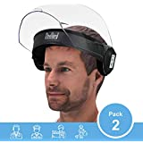 Steelbird SBA-2 7Wings Visor Flip-up Movable Face Shield, Face Protection Shield, Full Face Protector For All Front Line Warriors (Doctors, Nurses, Police, Shopkeepers) (Pack of 2)