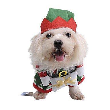 Imagen de yulxs gatos perros disfraces ropa para perro invierno primavera/otoño personajes adorable cosplay navidad verde , m