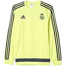 adidas Real Madrid CF Swt Top - Sudadera, color amarillo / gris, talla L