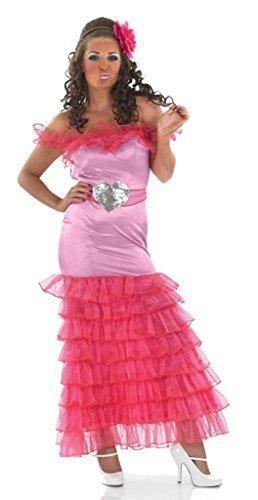 Damen Sexy Zigeuner Brautjungfer Junggesellinnenabschied Do Pink Groß Fett Hochzeit Spaß lustig Kostüm Kleid Outfit UK 8-30 Übergröße - Rosa, (Zigeuner Outfit)
