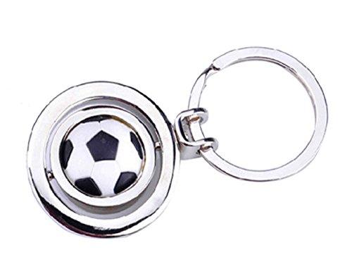 Sportigo® Drehbarer Fußball Schlüsselanhänger in 3D Optik/Fan Geschenk