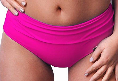 AVA Damen Bikini Slip SF 13 Rosa