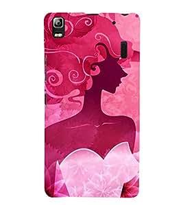 FUSON Beauty Illustration Girls Hair 3D Hard Polycarbonate Designer Back Case Cover for Lenovo A7000 :: Lenovo A7000 Plus :: Lenovo K3 Note