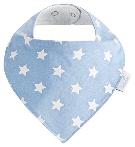 Baby-Lätzchen Set für Jungs 5 Stück, Dreieckstuch aus Baumwolle in den Farben Blau, Hellblau und Weiß,Wasserdicht - Halstuch - Spucktuch - Sabberlätzchen - 5
