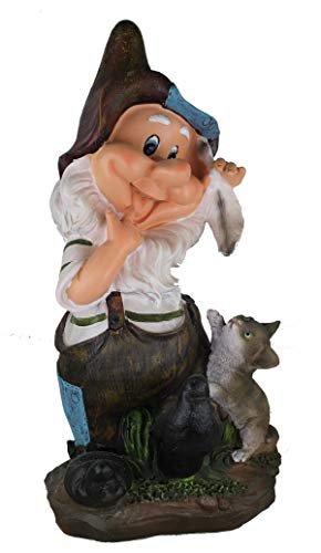 Design 3 Design 11020 Zwerg 41 cm Hoch Deko Garten Gartenzwerg Figuren Dekoration verschiedene Design | Garten > Dekoration > Dekofiguren | GMMH