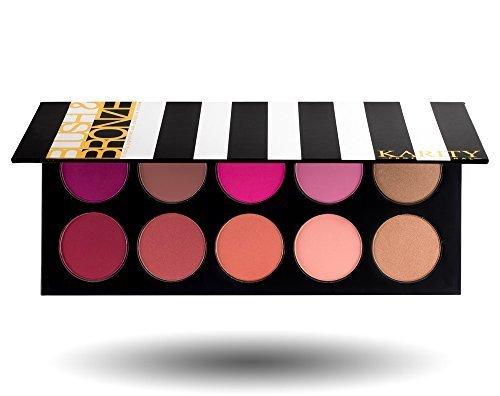Palette de Maquillage avec 10 Fard à Paupière et Fonds de Teint Professionnels et Pigmentés avec une Formule Haut de Gamme (Fard à Paupière et Fond de Teint)