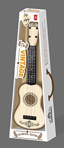 CT Spielzeug 4 Metallsaiten Vintage Gitarre für Kinder mit Plektrum