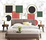 Fototapete 3D Tapete Wanddeko Design Anpassbare Seide Wallpaper Wandbilder Nordische Einfache Geometrische Figur, Abstrakten Linien Im Hintergrund Mauer