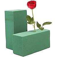 Rio upply 6pcs flores Espuma Bloque Floristerías verde Nasse ladrillo Espuma ladrillo piedras para los Restos tipo de flores Centros