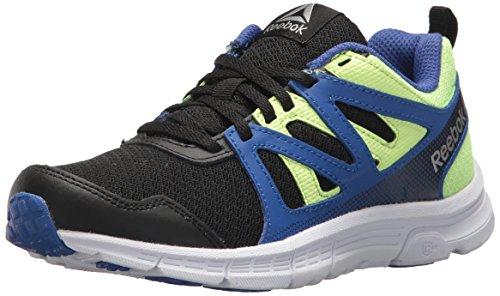 Reebok Flash (Reebok Baby Run Supreme 2.0 Sneaker, Black/Acid Blue/Electric Flash, 3 M US Toddler)
