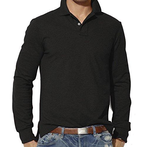 DEELIN Langarmshirt Sweatshirt Mode für Männer Casual Slim Langarm T-Shirt Top Bluse Plain Polo-Shirt