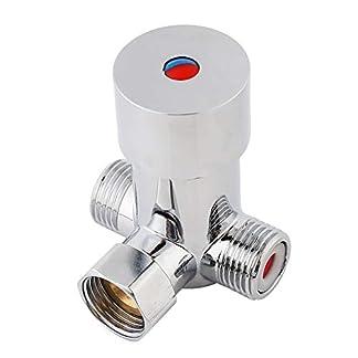 41tLcFTasRL. SS324  - Válvula de agua: válvula termostática Control de temperatura del mezclador de agua para el grifo automático en el baño Baño Uso de la cocina