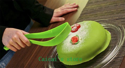 Generic 1EST Kuchen Pie Schneide Tabelle Guide Cutter Server Brot Slice Messer Küche Gadget (Sandwich-server)