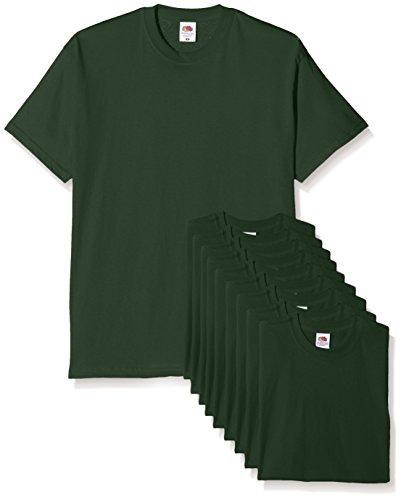 Fruit of the loom mens original pack, t-shirt uomo, verde (bottle green), large