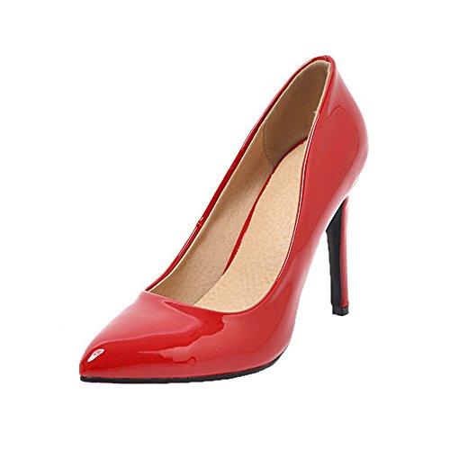 d10686ce63d7bf ... AalarDom Damen High-Heels Schließen Zehe Rein Ziehen auf Pumps Schuhe