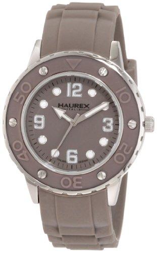 Haurex Italy 1D371DGG - Reloj analógico de cuarzo para mujer con correa de caucho, color gris