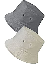 26f8b2a9643 TOSKATOK UPF 50+ Unisex Mens Womens Reversible Cotton Blend Summer Bucket Bush  Hats