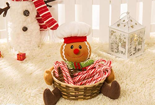 chen-Ideen-Party-Taschen Netter Lebkuchen-Mann-Zahl-Korb-Halter-Weihnachtssüßigkeit-Keks-Bonbons oder Zubehör-Halter-Weihnachtsdekoration ( Farbe : As Shown , Größe : 18x17cm ) ()