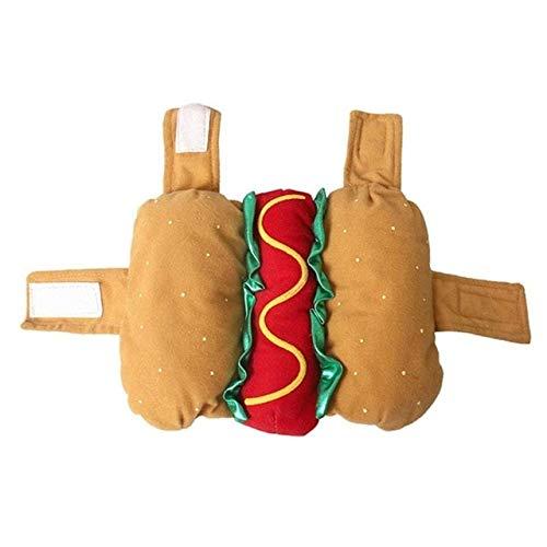 FTDDFJAS Xxs-xxl Haustier Hund Hot Dog Kostüm Kleidung Senf Katze Kleidung Outfit Für Small Medium Dog Neuheit Warm Puppy Tuch M Hot Dog - Hot Dog Kostüm Muster