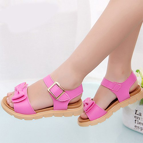 Zhhlinyuan Infant Girls Simple Party Sandals Kids Baby Comfortable Casual Shoes D13 Rose Red