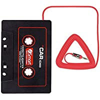 Kassettenaux AdapterAutoradioKassettenadapter Auto KFZ RadioAdapter3,5 mm Klinkensteckerfür iPhone iPod Smartphones Tablets Discman CD-Player MP3-Player usw. - Keliti