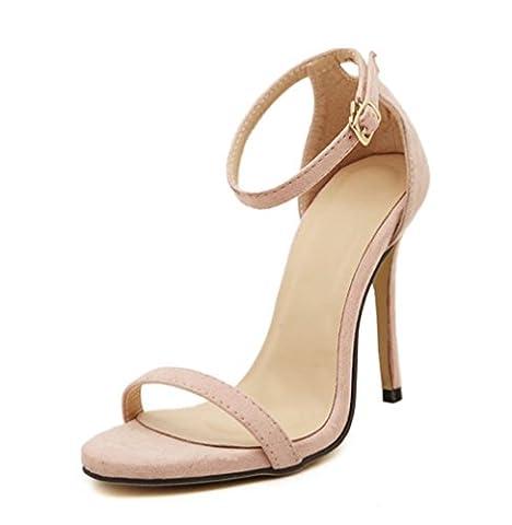 ZCH nouvelle femme fines sandales talons hauts mode Europe sandales mot cingulaire féminine grande taille 42 , nude color , 37