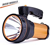 ROMER LED Wiederaufladbare Handheld Scheinwerfer Hochleistungs Super Bright 9000 MA 6000 LUMENS CREE Taktische Scheinwerfer Fackel Laterne Taschenlampe (Gold)