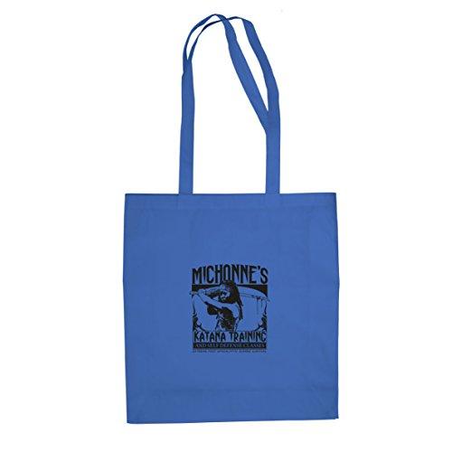 Michonne's Katana Training - Stofftasche / Beutel Blau