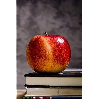 Carnet de Notes: Petit journal personnel de 121 pages lignées avec couverture « Pomme - Livres »