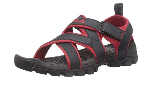 Pacific III Blk/Rd Sandals-10 UK/India