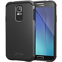 JETech Super Protettiva Samsung Galaxy S5 Case Cover Custodia Ultra Slim Fit per Galaxy S5 Galaxy SV Galaxy S V (Nero) - 3010