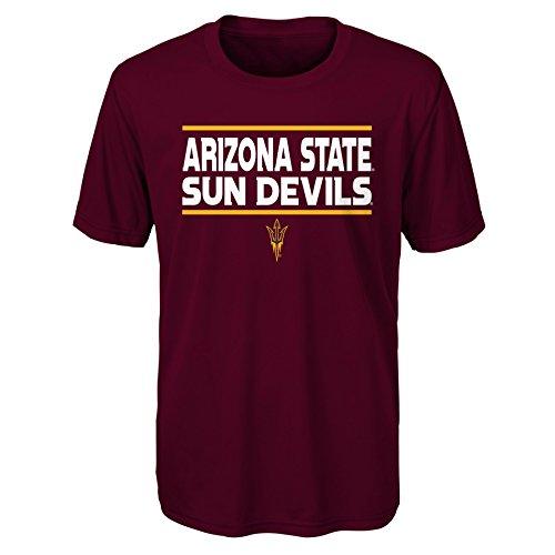 Gen 2NCAA Arizona State Sun Devils Jugend Jungen Short Sleeve Performance Tee, Jungen Youth, Jungen, K N8 48TUB 87-XL, Korallenrot, Youth Boys X-Large (18) - Jugend Jersey Polo