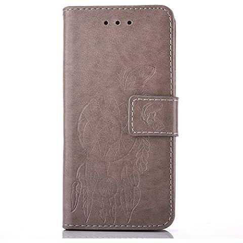 Meet de grigio Per Samsung Galaxy S6 PU Pelle Case,