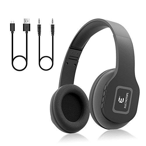 Auriculares Bluetooth,Auriculares Inalámbricos con Micrófono Estéreo de Alta Fidelidad Plegable para el Oído,Admite Llamadas Manos Libres y Modo Cableado para PC Teléfonos Celulares TV