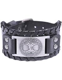 Bracelet en Cuir - Arbre de Vie Païen Yggdrasil Sigil - Bijoux Amulettes