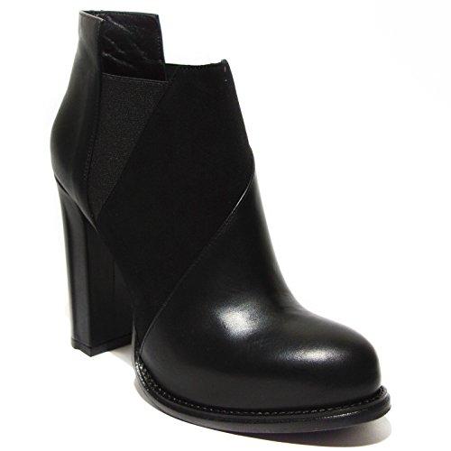Gianni Marra tronchetto a caviglia donna nero tacco made in italy art.9012 38