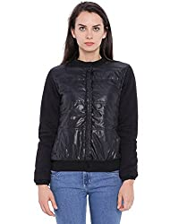 Campus Sutra Women Black Quilted Jacket(AW16_JK_W_P8_BL_L)