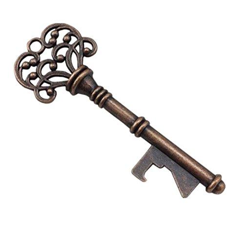 (Makefortune Schlüsselform Flaschenöffner Retro-Legierung Werkzeug Hochzeit Party Geschenk Souvenirs für Weinflaschen (Gold))