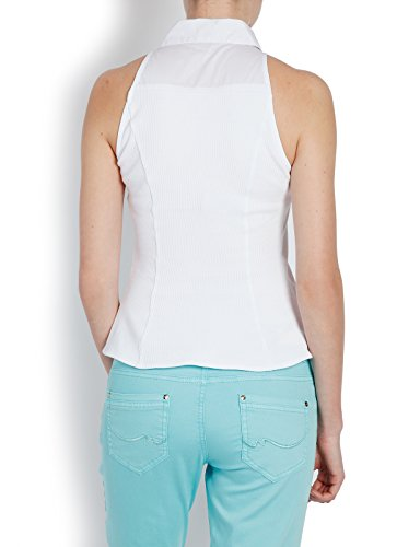 Morgan - Blouse - Uni - Sans manche - Femme Blanc
