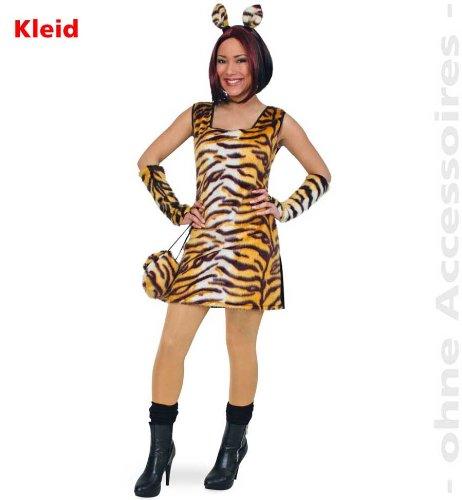 Fries 1304 Tisha Kleid Fasching Karneval Erwachsene Damen Tiger Kostüm: Größe: 38 (Kleid Tiger)