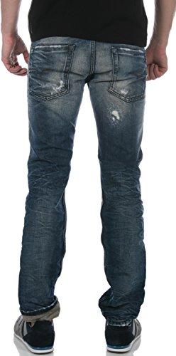 Jeans Tapered Fit Belther Diesel Bleu Delave Dirty Bleu