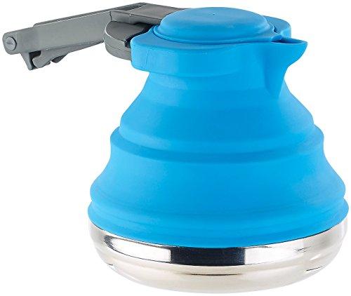 Rosenstein & Söhne Faltbarer Silikon-Wasserkessel mit Edelstahlboden, 1200 ml